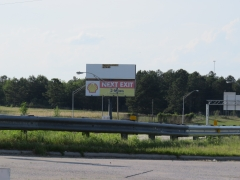 Sign #7------>Interstate 75--->Northbound read top face------>Exit 122,Next to the RED CARPET MOTEL.